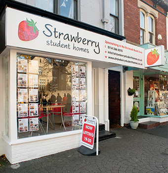 Strawberry Student Homes office on Ecclesall Road Sheffield